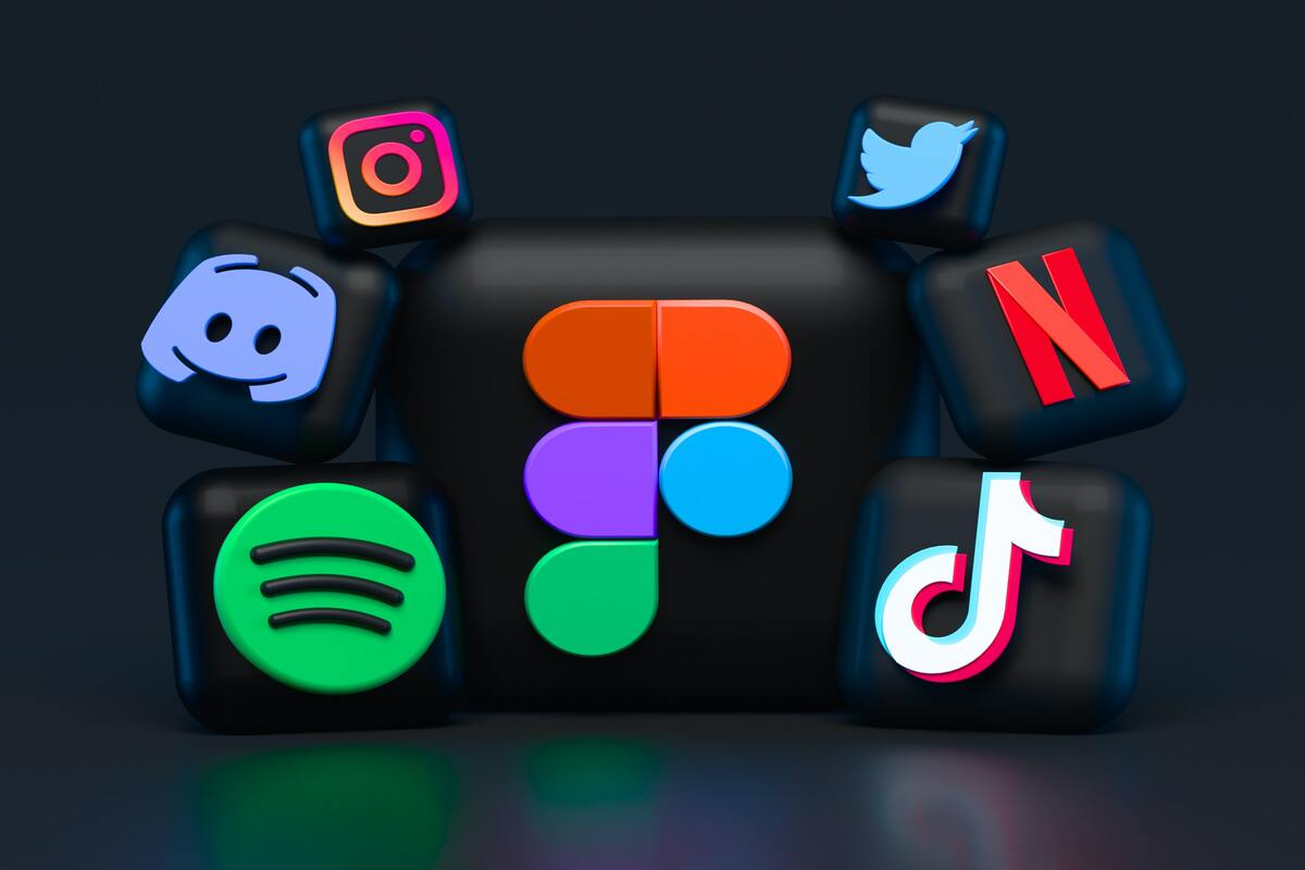 Logos of different digital channels