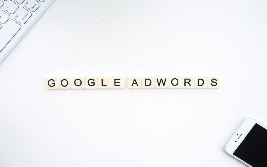 white background and text says google adwords