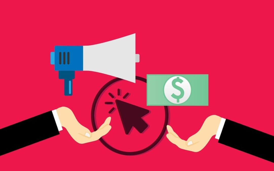 a speaker and dollar showing Pay Per Click Advertising